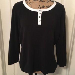 🌟EUC Talbot's Sweater Black/White Trim Size: XL